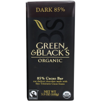 Green & Black's Organic Dark Chocolate Bar, 3.5 oz bars, 85% Cacao, 10 bars [708656100418]
