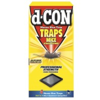 d-CON Rodenticide Rodent Mouse Glue Traps, 4 Count [019200786423]