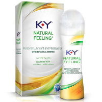 K-Y  Natural Feeling with Botanical Essence Lubricant & Message Gel 1.69 oz [067981963038]