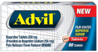 Advil Film-Coated Ibuprofen 200 mg Tablets 80 ea [305730133807]