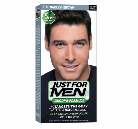 JUST FOR MEN Hair Color H-50 Darkest Brown 1 Each [011509049315]