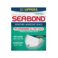 SEA-BOND Denture Adhesive Seals, Fresh Mint 30 Each [011509065070]