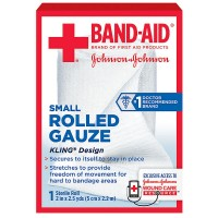 BAND-AID First Aid Rolled Gauze Sterile Roll, Small 1 ea [381371161379]