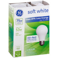 GE Energy-Efficient Soft White 53 Watt  Light Bulbs 4 ea [043168662482]