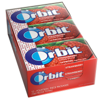 Orbit Sugar Free Gum Strawberry 12 pack (14 ct per pack)  [022000116185]