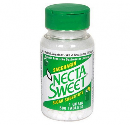 Necta Sweet Saccharin Sugar Substitute 1.0 grain Tablets 500 ea [758312173065]