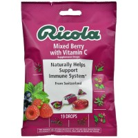 Ricola Supplement Drops with Vitamin C, Mixed Berry 19 ea [036602301849]