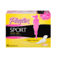 Playtex Sport Ultra Thin Pads With Wings, Regular 36 ea [078300007166]