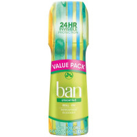 Ban Roll-On Antiperspirant Deodorant, Unscented 3.5 oz [019045240258]