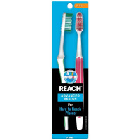 REACH Advanced Design Toothbrushes Firm Full Head 2 ea [381370079620]