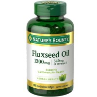Nature's Bounty Flaxseed Oil 1200 mg, 125 Rapid Release Softgels [074312133213]