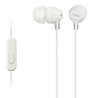 Sony Fashion Earbud Headphones with Mic, White 1 ea [027242868670]