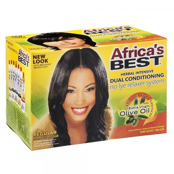 Africas Best No Lye Dual Conditioning Relaxer System Kit