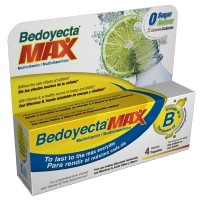 Bedoyecta Max Multivitamin Drink Mix Powder, Lemon Lime 4 ea [301870950069]
