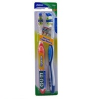 GUM Supreme Medium Advance Plaque Toothbrush Twin Pack, Medium 2 ea [070942126984]