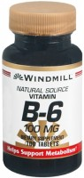 Windmill Vitamin B-6 100 mg Tablets 100 Tablets [035046001230]