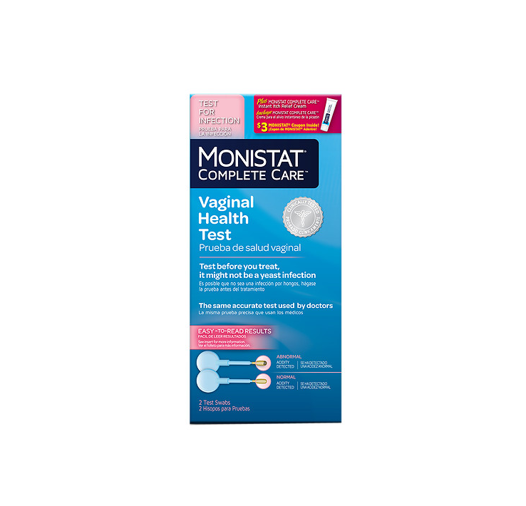 Monistat Complete Care Vaginal Health Test Itch Relief 2 Ea