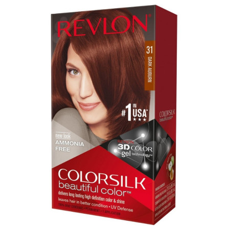 Revlon ColorSilk Hair Color, [31] Dark Auburn 1 ea [309978695318]