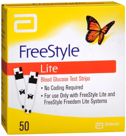 FreeStyle Lite Blood Glucose Test Strips 50 Each [699073708229]