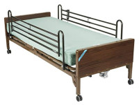 "Drive Medical Semi Electric Ultra Light Plus Hospital Bed, Brown, 36""  - 1 ea  [822383211565]"