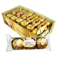 Ferrero Rocher Roasted Hazelnut Creamy Chocolates - 3/Pack, [Case of 12]  [009800123018]