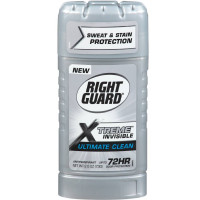 Right Guard Xtreme Clear Antiperspirant & Deodorant Invisible Solid, Clean 2.6 oz [017000111155]