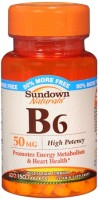 Sundown B-6 50 mg Tablets 150 Tablets [030768125875]
