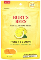 Burt's Bees Natural Throat Drops, Honey & Lemon 20 ea [792850014428]
