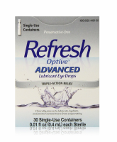 REFRESH Optive Advanced Lubricant Eye Drops Single Use Containers 30 ea [300234491309]