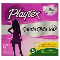 Playtex Gentle Glide 360 Fresh Scent Multi-Pack Tampons 36 ea [078300089964]