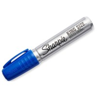 Sharpie King Size Permanent Marker, Blue 1 ea [071641150034]