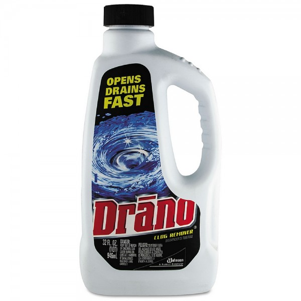 drano liquid clog remover drain cleaner 32 oz 019800001162