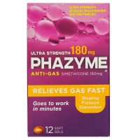 Phazyme Ultra Strength Anti-Gas 180 mg Softgels 12 ea [301320002065]