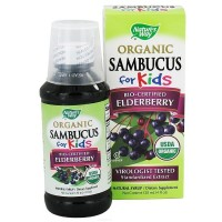 Nature's Way Organic Sambucus for Kids Natural Syrup, Elderberry 4 oz [033674157978]