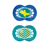 MAM Trends Silicone Pacifier, 6 Months, Colors May Vary 2 ea [845296023445]