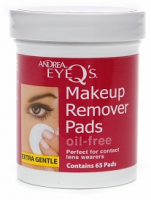Andrea Eye Q's Eye Make-Up Remover Pads Oil-Free 65 Each [078462066056]