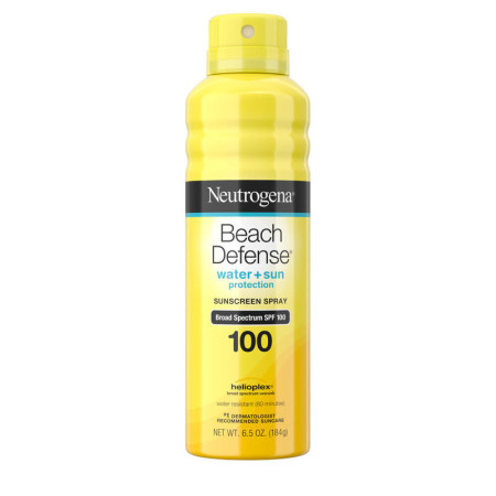 Neutrogena Beach Defense Body Spray Sunscreen with Broad Spectrum SPF 100, Water-Resistant and Oil-Free Sun Protection 6.5  oz [086800101444]