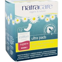Natracare Natural Ultra Pads, Super Plus 12 ea [782126003119]