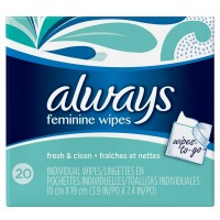 Always Wipes-to-Go 20 ea [037000114314]