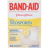BAND-AID with Neosporin Bandages Assorted Sizes 20 Each [381370055709]