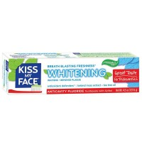 Kiss My Face Anticavity Fluoride Whitening Gel Toothpaste, Cool Mint 4.50 oz [028367842361]