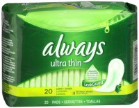 Always Ultra Thin Pads Super Long 20 Each [037000331599]
