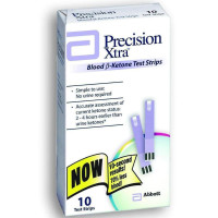 Precision Xtra Blood B-Ketone Test Strips 10 Each [093815707455]