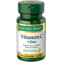Nature's Bounty Vitamin C + Zinc Quick Dissolve Tablets 60 ea [074312553936]