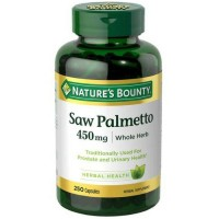 Nature's Bounty Saw Palmetto 450 mg Capsules 250 ea [074312446481]
