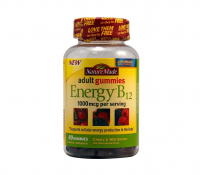 Nature Made Energy B-12 Adult Gummies, Cherry & Wild Berries 80 ea [031604029531]