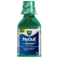 Vicks Nyquil Cold & Flu Nighttime Relief Liquid, Original Flavor 12 oz [323900014268]