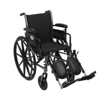 "Drive Medical Cruiser III Light Weight Wheelchair with Various Flip Back Arm Styles and Front Rigging Options, Black, 18"" - 1 ea [822383133188]"