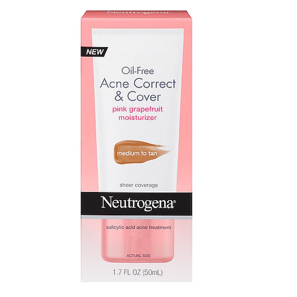 Oil-Free Acne Correct & Cover Pink Grapefruit Moisturizer by Neutrogena #22