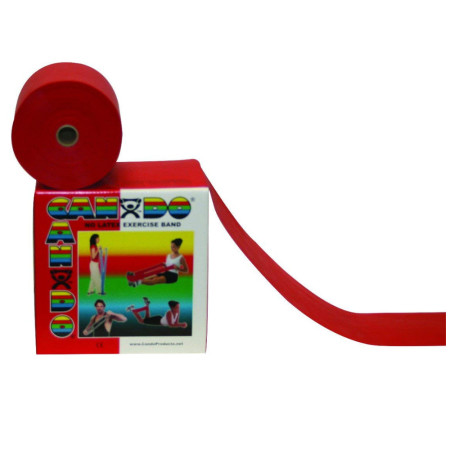 CanDo 10-5602 Latex Free Exercise Band, 4' Length, Red-Light  [714905002204]